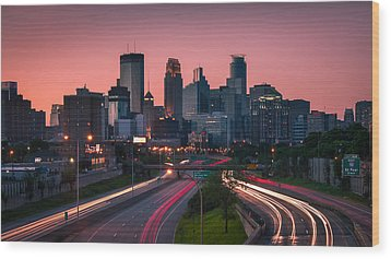 Minneapolis In Motion Wood Print