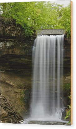 Minnehaha Falls Wood Print by Tiffany Erdman