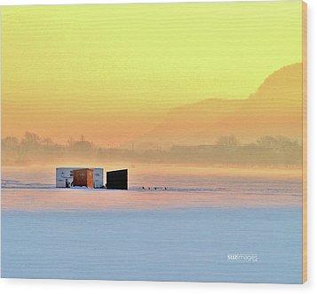 Minnesota Sunrise Wood Print