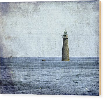 Minot Ledge Light Wood Print by Brian MacLean