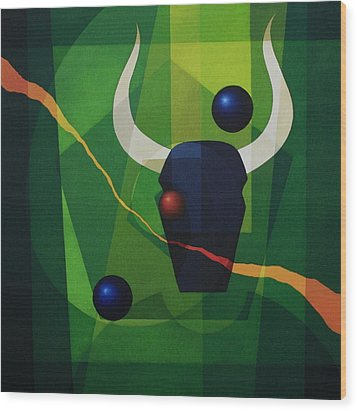 Minotaur - II Wood Print by Alberto DAssumpcao