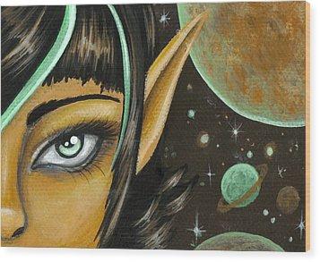 Mint Chocolate Skies Wood Print by Elaina  Wagner