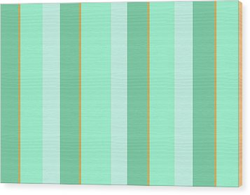 Wood Print featuring the mixed media Mint Green Stripe Pattern by Christina Rollo