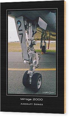 Mirage 2000 Wood Print by Mathias Rousseau