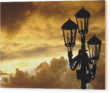 Mirage Night Sky Wood Print by Michael Simeone