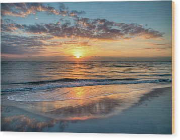 Wood Print featuring the photograph Mirror At Sunrise by Debra and Dave Vanderlaan