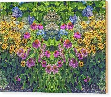 Flowers Pareidolia Wood Print