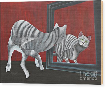 Mirror Image Wood Print by Jutta Maria Pusl