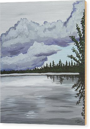 Mirror Lake Wood Print by Christie Nicklay
