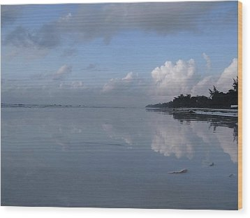 Mirror Ocean Water Wood Print
