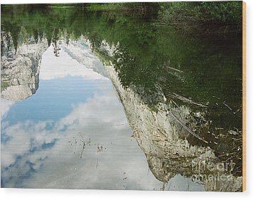 Mirrored Wood Print by Kathy McClure
