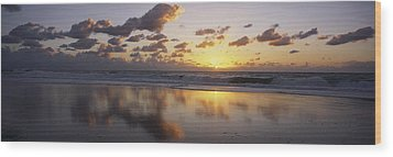 Mirrored Mexico Sunset Wood Print by Bill Schildge - Printscapes