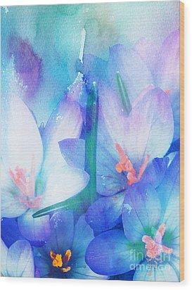 Wood Print featuring the digital art Mirthfulness by Klara Acel