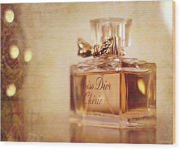 Miss Dior Wood Print by Susan Bordelon