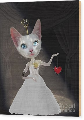 Miss Kitty Wood Print by Juli Scalzi