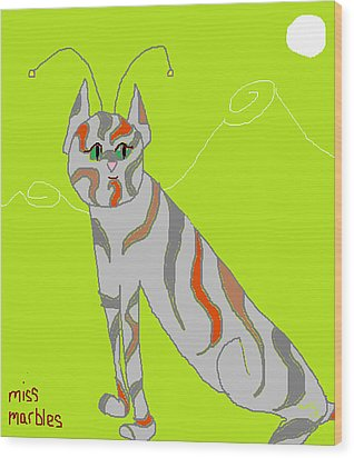 Miss Marbles My Favorite Martian Wood Print