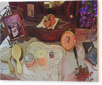 Miss Mary's Table. Wood Print