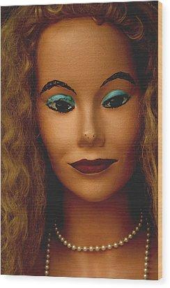 Miss Mascara Wood Print by Jez C Self