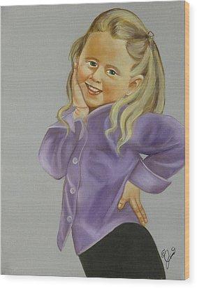 Miss Priss Wood Print by Joni McPherson