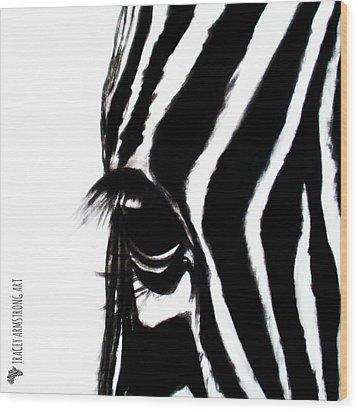 Miss Zebbie Wood Print