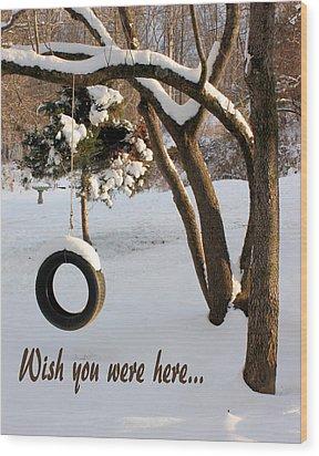 Missing You Wood Print by Kristin Elmquist