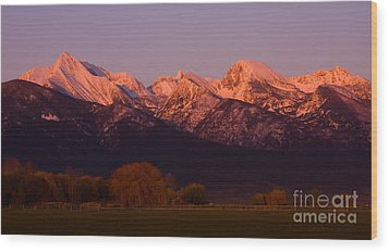 Mission Alpenglow Wood Print