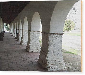 Mission Arches Wood Print
