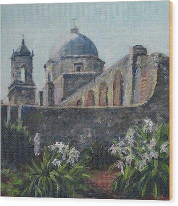 Mission Concepcion In San Antonio Wood Print