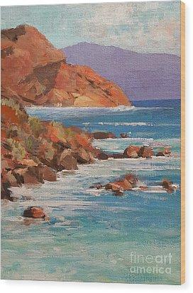 Mission Cove Wood Print