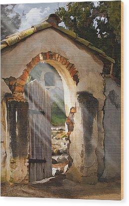 Mission Gate Wood Print