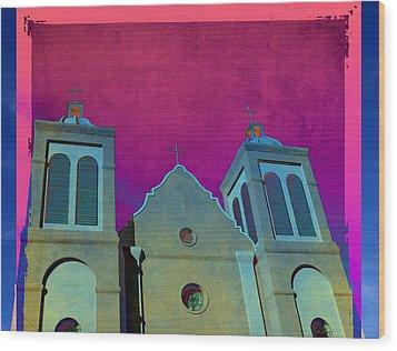 Mission New Mexico Var.2 Wood Print by Susanne Van Hulst