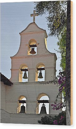 Wood Print featuring the photograph Mission San Diego De Alcala Bell Tower by Christine Till