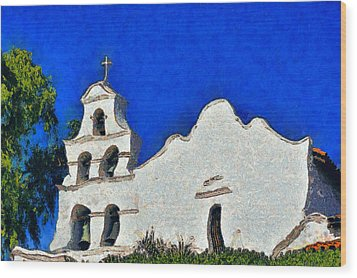 Mission San Diego De Alcala Wood Print by Christine Till