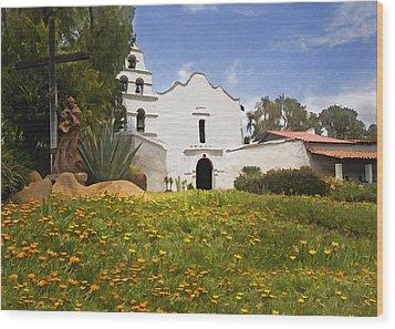 Mission San Diego De Alcala Wood Print