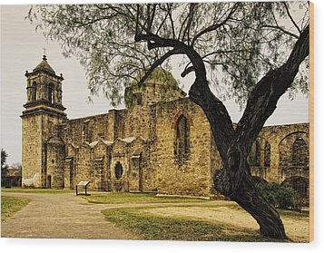 Mission San Jose Wood Print by Iris Greenwell