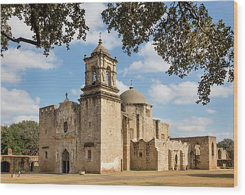 Wood Print featuring the photograph Mission San Jose by Mary Jo Allen