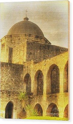 Mission San Jose San Antonio Texas Wood Print