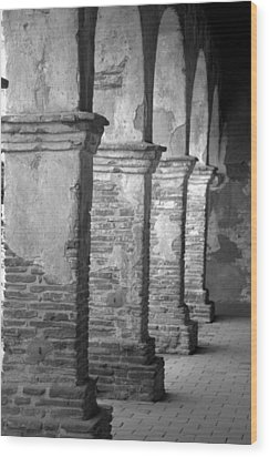 Mission San Juan Capistrano Arches Wood Print by Brad Scott