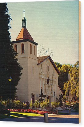 Wood Print featuring the photograph Mission Santa Clara - California by Glenn McCarthy Art and Photography