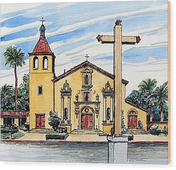 Mission Santa Clara De Asis Wood Print by Terry Banderas