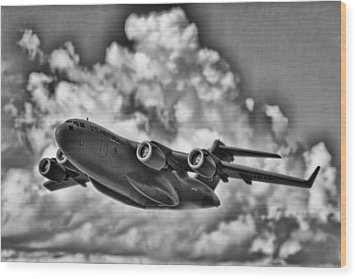 Mission-strategic Airlift Wood Print by Douglas Barnard