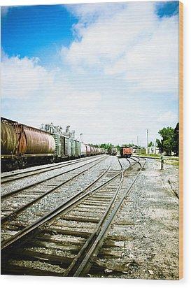 Mission Street Train Yard Wood Print by Michael Knight