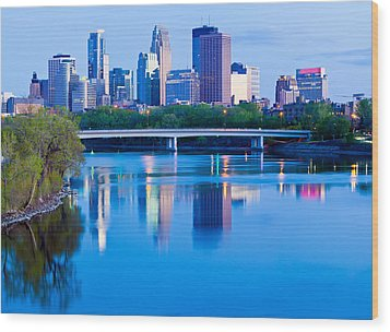 Mississippi And Minneapolis Wood Print