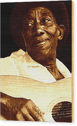 Mississippi John Hurt Wood Print by Jeff DOttavio