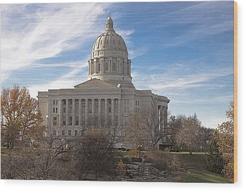 Missouri Capital Wood Print