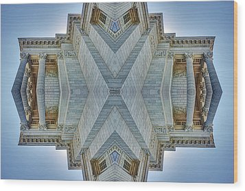 Wood Print featuring the photograph Missouri Capitol - Abstract by Nikolyn McDonald
