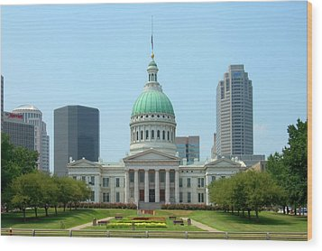 Wood Print featuring the photograph Missouri State Capitol Building by Mike McGlothlen
