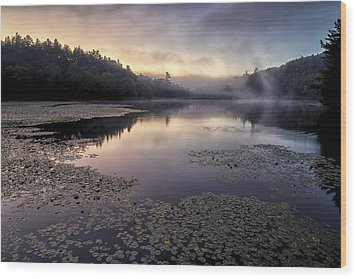 Bass Lake Sunrise - Blue Ridge Parkway Wood Print