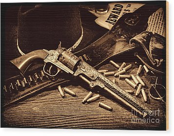 Mister Durant's Revolver Wood Print by American West Legend By Olivier Le Queinec