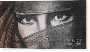 Mistic Eyes Wood Print by Anastasis  Anastasi